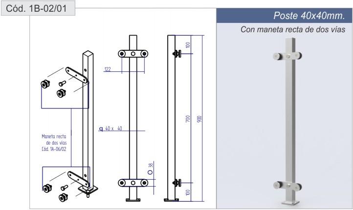 postes para barandas de vidrio