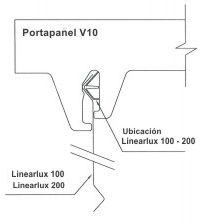 Cielorraso Linearlux 100 - 200